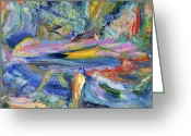  Expressionism Greeting Cards - Paint number 31 Greeting Card by James W Johnson