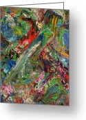 Abstract Painting Greeting Cards - Paint number 32 Greeting Card by James W Johnson