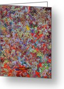 Abstract Expressionism Greeting Cards - Paint number 33 Greeting Card by James W Johnson