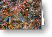 Abstract Painting Greeting Cards - Paint number 35 Greeting Card by James W Johnson