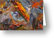 Expressionist Greeting Cards - Paint Number 44 Greeting Card by James W Johnson