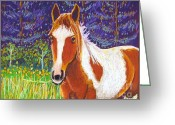 Fun Pastels Greeting Cards - Paintchip Greeting Card by Harriet Peck Taylor