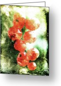 Palm Leaf Digital Art Greeting Cards - Painted Currant Greeting Card by Andrea Barbieri