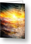 Brushes Digital Art Greeting Cards - Painted Dawn Greeting Card by Andrea Barbieri