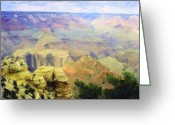 Colorado Framed Prints Greeting Cards - Painted Grand Canyon Greeting Card by M K  Miller
