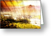 Brushes Digital Art Greeting Cards - Painted Landscape Greeting Card by Andrea Barbieri