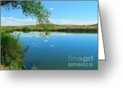 Cloudscape Photographs Greeting Cards - Painted Morning - North American Landscapes Greeting Card by Photography Moments - Sandi