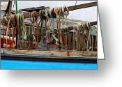 Harbor Living Greeting Cards - Painted Rope Coils Greeting Card by Brenda Giasson