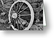Log Greeting Cards - Painted Wagon Greeting Card by Ed Boudreau