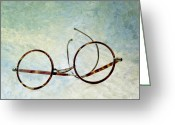 Figure Photo Greeting Cards - Pair of glasses Greeting Card by Bernard Jaubert
