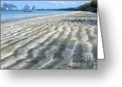 Moored Greeting Cards - Pak Meng Beach Greeting Card by Adrian Evans