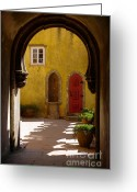 Warm Greeting Cards - Palace arch Greeting Card by Carlos Caetano