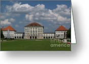 Nymphenburg Greeting Cards - Palace at Nymphenburg Greeting Card by Krista Kulas
