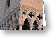 Palais Des Doges Greeting Cards - Palace Ducal. Venice Greeting Card by Bernard Jaubert
