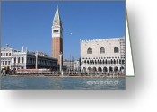 St Marc Greeting Cards - Palace Ducal. Venise Greeting Card by Bernard Jaubert