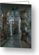 Hall Greeting Cards - Palace Hall Greeting Card by Angel Jesus De la Fuente