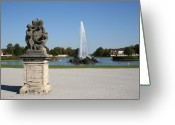 Nymphenburg Greeting Cards - Palace Nymphenburg - Fountain - Germany Greeting Card by Christiane Schulze