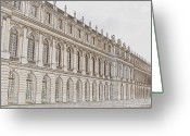 Royalty Digital Art Greeting Cards - Palace of Versailles Greeting Card by Amanda Barcon