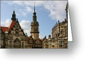 Towers Greeting Cards - Palace Square in Dresden Greeting Card by Christine Till