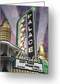Sunset Posters Greeting Cards - Palace Theater Greeting Card by Anthony Ross