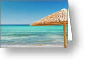 Clear Photo Greeting Cards - Palapa Greeting Card by Elias Kordelakos Photography