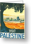 Pray Digital Art Greeting Cards - Palestine Greeting Card by Nomad Art And  Design