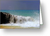 Crashing Waves Greeting Cards - Palette of God Greeting Card by Karen Wiles