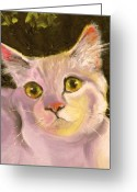 Kitten Greeting Card Greeting Cards - Palette Pal Close Up Greeting Card by Susan A Becker
