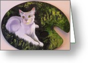 Kitten Greeting Card Greeting Cards - Palette Pal Greeting Card by Susan A Becker