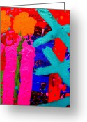 Artist Studio Greeting Cards - Palimpsest 005 Greeting Card by John  Nolan
