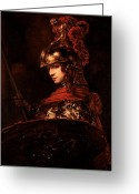 Lance Greeting Cards - Pallas Athena  Greeting Card by Rembrandt 