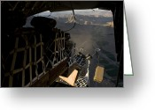 Freight Greeting Cards - Pallets Are Released From A C-17 Greeting Card by Stocktrek Images