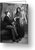Fortune Teller Greeting Cards - PALM-READING, c1910 Greeting Card by Granger