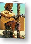 Musicals Greeting Cards - Palm Springs Gene Autry 2 Greeting Card by Randall Weidner