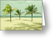 Horizon Over Water Greeting Cards - Palm Tree, Bali Greeting Card by Photograph by Chris Round