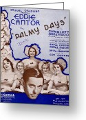 Waitresses Greeting Cards - Palmy Days Greeting Card by Mel Thompson