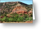Palo Duro Canyon State Park Greeting Cards - Palo Duro Canyon in Texas Greeting Card by Louise Heusinkveld