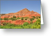Palo Duro Canyon State Park Greeting Cards - Palo Duro Canyon, Texas Greeting Card by Louise Heusinkveld