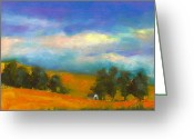 House Pastels Greeting Cards - Palouse Wheat Fields Greeting Card by David Patterson
