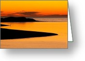 New England Sunset Greeting Cards - Pamet Harbor Greeting Card by Bill  Wakeley