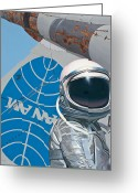 Plane Greeting Cards - Pan Am Greeting Card by Scott Listfield