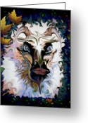 Nymphs Greeting Cards - Pan Greeting Card by Mimulux patricia no  