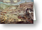 Excavation Greeting Cards - Panama Canal: Excavation Greeting Card by Granger