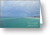 Panama City Beach Greeting Cards - Panama City Beach Perspective Greeting Card by Jan Prewett
