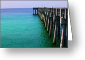 Panama City Beach Greeting Cards - Panama City Beach pier Greeting Card by Toni Hopper