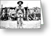 Pancho Greeting Cards - Pancho Villa Greeting Card by Bill Cannon