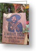I Want You Greeting Cards - Pancho villa Greeting Card by Calixto Gonzalez