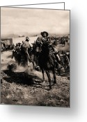 Pancho Greeting Cards - Pancho Villa Rides Again Greeting Card by Bill Cannon