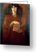 Pandora Greeting Cards - Pandora Greeting Card by Dante Charles Gabriel Rossetti