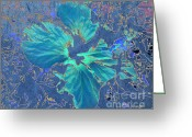 Outerspace Greeting Cards - Pandora Flower Greeting Card by Alexander Bakumenko